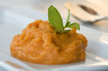 Scharfe Süßkartoffel geminzt