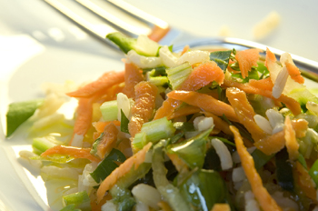 Warmer Reis-Karottensalat