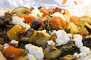 Geröstetes Gemüse auf Griechische Art