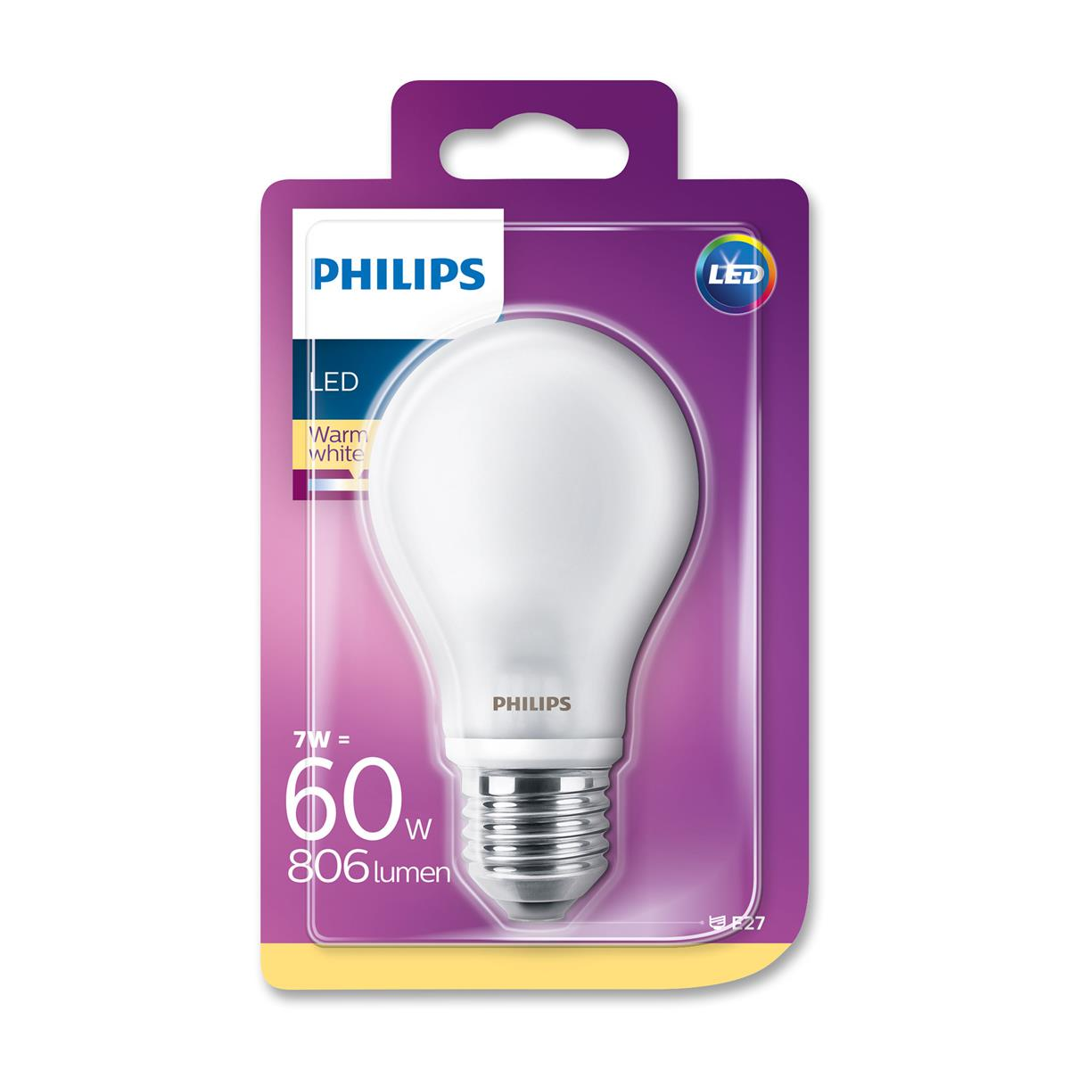 Top Philips LED Lampe 60W E27 online bestellen | BILLA SO36